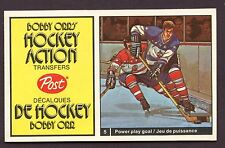 1972-73 Post Cereal Bobby Orr's Hockey Action Transfers # 12 Vachon & Cournoyer