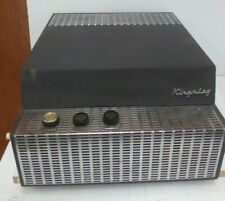 VINTAGE KINGSLEY PORTABLE RECORD PLAYER IN CARRY CASE 1960s