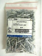 (Bag of 500) T&B F2039 INSULATED Covered FERRULE 12 AWG/4.00mm2 Gray