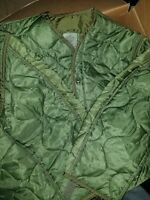 Military Coat, M65 Quilted Foliage Green Cold Weather Field Jacket Liner Size S