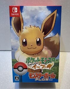 Pokemon Lets Go! Eevee Monster Ball Plus Set Switch Nintendo
