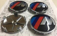 4x BMW M Sport Alloy Wheel Centre Caps 68mm Decal Emblem Badge 3D Logo Top UK