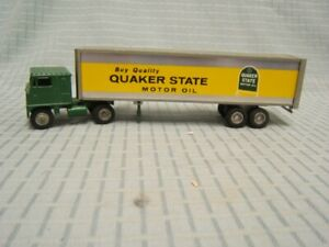 Winross Quaker State White 7000 Cab Swing Dolly 1972 Tractor Trailer 1/64 Rare