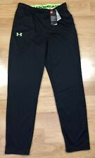 Boys UNDER ARMOUR Pants YXL Loose Black And Lime Green With Pockets NWT!!