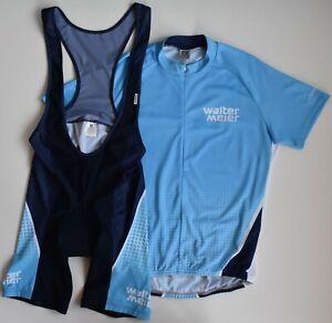 Set Jersey and Bib Shorts Owayo Walter Meier Blue Cycling Men's XXL