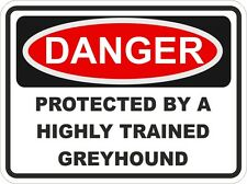 GREYHOUND Breed DOG Danger Sticker Pet for Bumper Locker Car Door Locker
