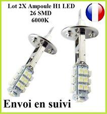 2X Ampoules H1 LED 26 SMD 35W Blanc Pure 6000K Xenon Phare Feux Anti-Brouillard