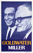 Vintage 1964 Barry GOLDWATER William MILLER Campaign Poster (5362)