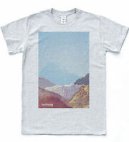 BUFFERING T-shirt Grid Graphics Mountain Tee Indie Retro Colour Hipster Top