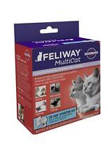 Feliway Multi-Cat 30 Day Starter Kit Plug-In Diffuser Refill 48 ml Exp 9/23