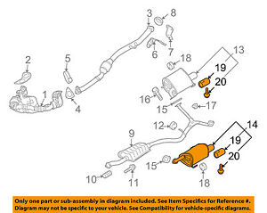 SUBARU OEM 09-13 Forester 2.5L-H4-Muffler Left 44300SC142