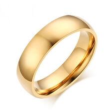 Clásico Anillos compromiso hombres Anillo acero inoxidable boda joyería