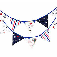 12 Flags 3.2m Pirate Theme Cotton Fabric Bunting Pennant Banner Party Decoration