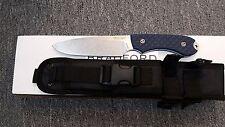 Bradford 5s-013 guardian5 cpm3v steel black-blue g10 handle fixed blade knife.