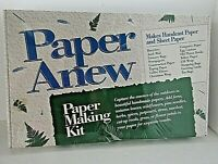 New PAPER ANEW Paper Making Kit Hand Cast Sheet Recycle 1992 Craft Hobby