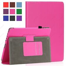 Magnetic iPad 1 1st Generation Leather Case Cover with Build in Stand Hot Pink