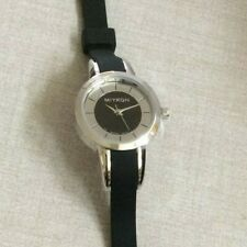 Miykon Womens Watch Round Black & Silver Dial Black Silicon Band WR30M New Style