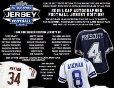 NEW YORK GIANTS 2018 Leaf Autographed Football Jersey 1 Box Break #14