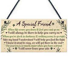 Motivational Inspirational Plaque Friendship Friend Thank You Birthday Xmas Gift