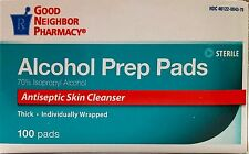 GNP Alcohol Prep Pads Antiseptic Skin Cleanser 100 pads