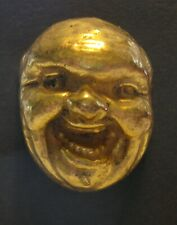 Medium Vintage Button Realistic Laughing Man Looks Like He Told a Joke