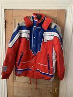 ESF Mens Ski Jacket Size L Red/blue/white