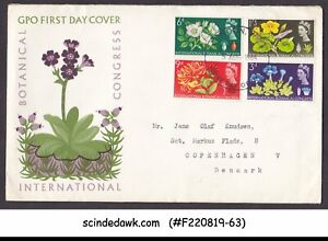 GREAT BRITAIN 1964 BOTANICAL CONGRESS / FLOWERS - FDC