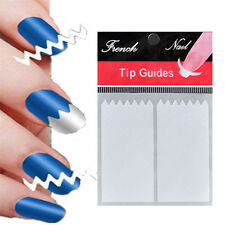 10X Nail Art French Manicure Guide ZiG ZaG Tips Manicure Stickers Stencils White