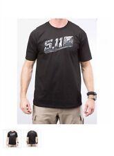 5.11 Tactical 41006DA019 Men's Black Stealth Logo S/S T-Shirt - Size Small