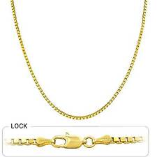 "4.10 gram 14k Yellow Gold Solid Box Chain Men's Women's Necklace 16"" (1.20 mm)"