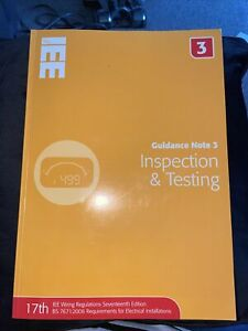 Guidance Note 3: Inspection and Testing by Jon Elliot (Paperback, 2008)
