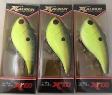 (3) Xcalibur Rattle Bait Lipless Crankbait XR10044 Foxy Lady