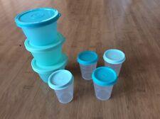 Tupperware Wichtel Set je 50 ml  und mehr Hell Blau Neu