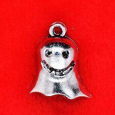 4 x Tibetan Silver Cute Ghost Halloween Goth Charm Pendant Jewellery Making