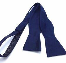 $120 RYAN SEACREST Mens BLUE SOLID SILK DRESS BOWTIE CASUAL ADJUSTABLE BOW TIE
