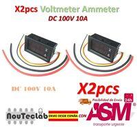 2pz DC 100V 10A Voltmetro Ammeter Blu + Red LED Ah Dual Digitale Volt Meter