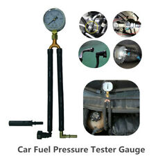 Universal Car Fuel Pressure Tester Gauge Analogue Gasoline MPa Hose Adapter Kit
