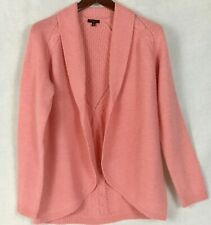 Talbots Petites S Knit Open Front Cardigan Sweater Merino Wool Cashmere Blend