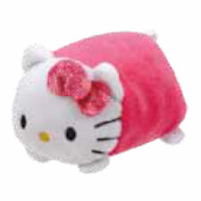 "TY Beanie Babies Teeny Pink Hello Kitty stackable 3"" Plush NEW w/ Heart Tag"