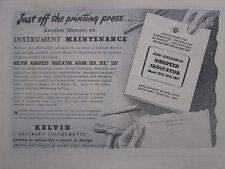 10/1945 PUB KELVIN AIRCRAFT INSTRUMENTS CABIN AIRSPEED INDICATOR ORIGINAL AD