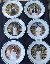 Guy Buffet, L'Etalage, The Shopkeepers: Set of 6 Salad Plates