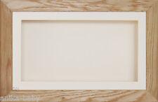 Large 3D Solid Oak Box Display Frame Cream Flowers Medals Cast Baby Keepsakes