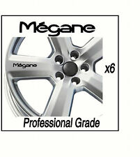RENAULT MEGANE CAR ALLOY WHEEL  DECALS STICKERS CARS X6