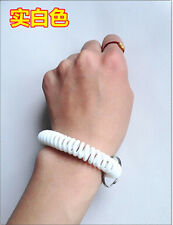 50pcs Spiral Wrist Coil Key Chains / New in Sealed Bag / Free shipping white A19