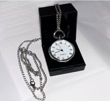 Metal Gift Boxed Silver Metal Pocket Watch 1920s Victorian Fancy Dress