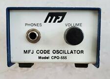 MFJ CODE OSCILLATOR CPO 555 MORSE HAM RADIO (401)