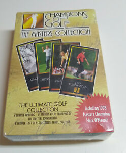 1997 1998 CHAMPIONS OF GOLF THE MASTERS COLLECTION SEALED BOX TIGER WOODS ROOKIE