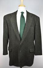 Barry Bricken Mens 2-BTN Made In USA Fleece Wool Sport Coat Blazer Jacket L