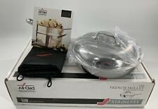 NEW / BOXED: All Clad Stainless 9in French Skillet w/ Dome Lid