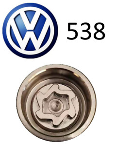 VW New Locking Wheel Nut Key Letter V, Code 538 with 17mm Hex